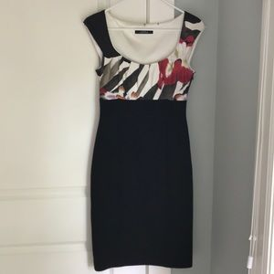 As 0 Silk bodice capped sleeved Elie Tahari dress